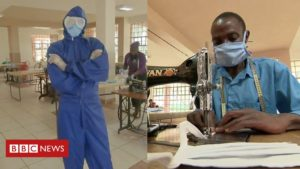 Read more about the article Coronavirus in Africa: Kenya's students making PPE kits