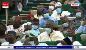 Read more about the article Nigerian Lawmakers Doze Off As Buhari Presents 2022 Budget Proposal To National Assembly