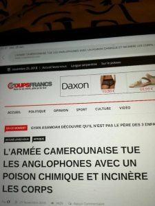 Read more about the article CAMEROON MILITARY, SUMMARY EXECUTIONS, WAR CRIMES AND NOW CHEMICAL WEAPONS