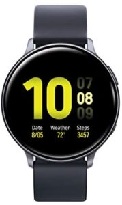 Read more about the article Samsung Galaxy Watch Active2 W / Enhanced Sleep Tracking Analysis, Auto Workout Tracking, and Pace Coaching (44mm, GPS, Bluetooth, Wifi), Aqua Black – US Version with Warranty