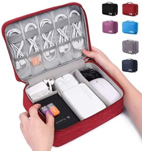 Read more about the article Electronic Organizer Travel Universal Cable Organizer Electronics Accessories Cases for Cable, Charger, Phone, USB, SD Card