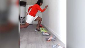 Read more about the article Keeping fit during coronavirus: Nigerian footballer's home workout using shoes