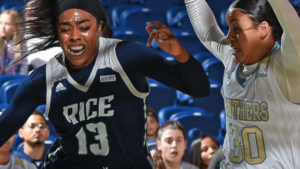 Read more about the article Erica Ogwumike has been drafted into the WNBA – but is also a medical student in the US.