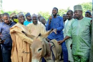 Read more about the article Kano Governor, Ganduje's Aide Distributes Donkeys To Empower Youth In State