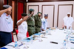Read more about the article Give Security Agencies, Service Chiefs More Time, Buhari Pleads With Nigerians