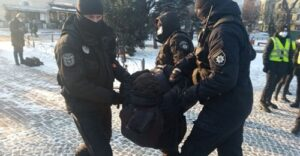 Read more about the article Ukraine Police Break up Peaceful Protest Against Far-Right Violence