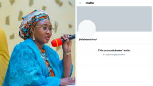 Read more about the article Dubai-based Nigerian First Lady, Aisha Buhari Deactivates Twitter Account In Solidarity With Husband