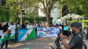 Read more about the article 'Deliver Us From Union Of Death In Nigeria'—Yoruba Nation Agitators, Others Protest At UN Headquarters To Demand Referendum